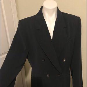 Kasper for asl sz 14 double breasted blazer